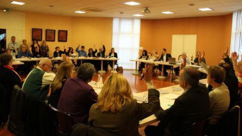 Le conseil municipal en séance pleinière