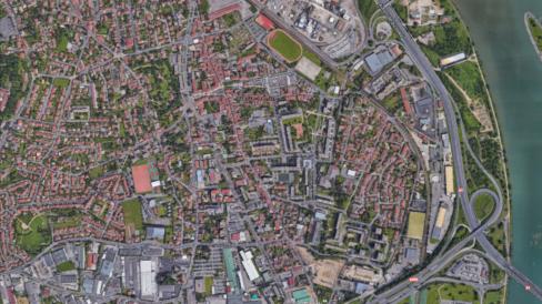 Vue aérienne de Pierre-Bénite